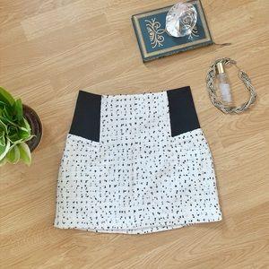 Classy black and white miniskirt